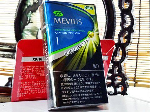 MEVIUS Premium Menthol Option Yellow 1 100s